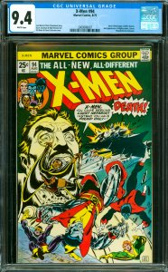 X-Men #94 CGC Graded 9.4 New X-Men. Sunfire leaves. 2nd appearance of Nightcr...