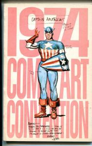 1974 Comic art Convention Program Book-Joe Simon-Wally Wood-Will Eisner-VF