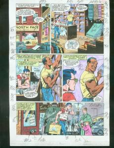 ORIGINAL D.C. COLOR GUIDE ROBIN ANNUAL #2 PG 30-SIGNED VG