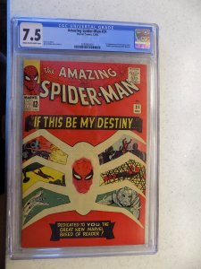 AMAZING SPIDER-MAN # 31 MARVEL 1ST HARRY OSBOURNE GWEN STACEY CGC 7.5