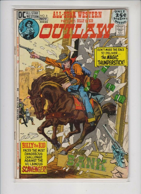 ALL STAR WESTERN OUTLA-FEATURING BILLTHE KID #8 1971 DC /  MID QUALITY