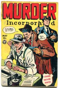 Murder Incorporated #10 1949- Fox Golden Age Crime comic- G+