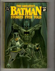 The Greatest Batman Stories Ever Told Vol. # 2 DC TPB SIGNED By J. SCHWARTZ J371