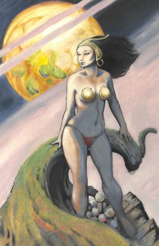 DON MARQUEZ original art,  Cover of ' CARTUNE LAND #1 ', 18x24 on Canvas, 1985