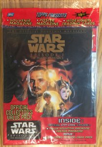 Star Wars Episode 1 Phantom Menace Official Collector's Value Pack - NEW TOPPS