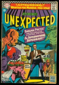 TALES OF THE UNEXPECTED #96 1966-DC-MONSTERS MAGIC SHOP G