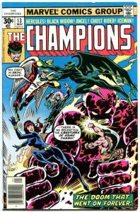 CHAMPIONS #13, FN+, Hercules, Black Widow, Ghost Rider, 1976, more in store