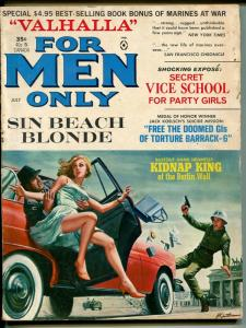 For Men Only 7/1965-Atlas-spicy pulp-vice school-party girls-narcotics-GOOD