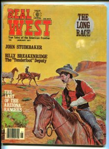 Real West 1/1977-Arizona Rangers-John Studebaker-torture-pulp violence-VG