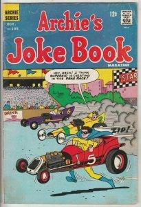 Archie's Joke Book # 105 Strict FN- Mid-Grade Cover Superhero Drag Racing Gag