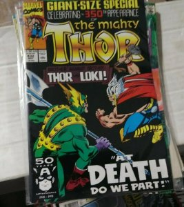 THOR # 432 1988 MARVEL 350TH APPERANCE OF MIGHTY THOR LOKI ERIC MASTERSON