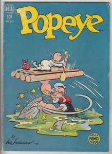 Popeye #6 (May-49) FN- Mid-Grade Popeye, Olive Oil, Swee'pea, Jeep, Whimpy