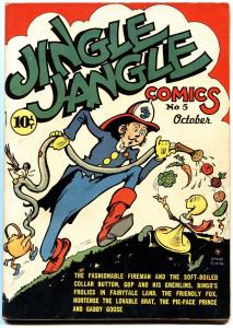 JINGLE JANGLE COMICS #5 1943-Golden-Age HIGH GRADE