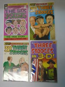 3-D Three Stooges comic lot 4 different issues 8.0 VF
