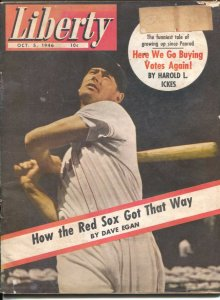 Liberty 10/5/1946-Ted Williams-Boston Red Sox-pulp fiction-Jim Kjelgaard-Pegg...