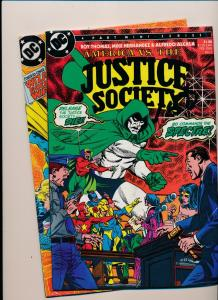 DC Comics SET  JUSTICE SOCIETY #2 & #3 VERY FINE (HX755)