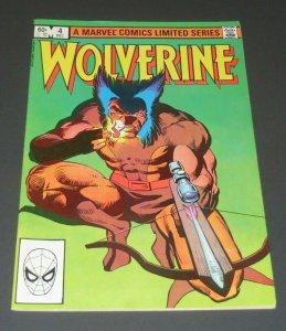 Wolverine #4 VF/VF+ 8.0~8.5 High Grade Marvel Comic Book X-Men Frank Miller Art