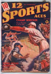 12 Sports Aces #4 5/1939-pulp fiction-baseball-boxing-racing-bowling-VG-