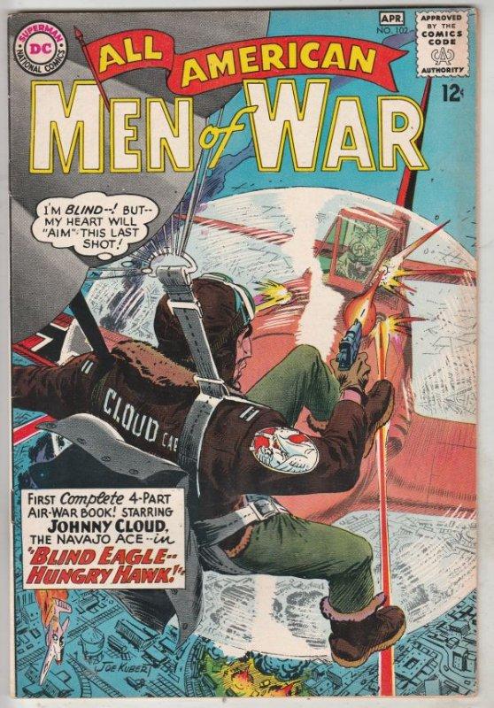 All-American Men of War #102 (Apr-64) NM- High-Grade Johnny Cloud