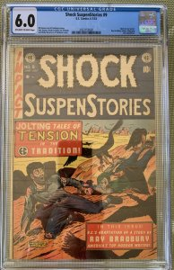 Shock SuspenStories #9 (1953) CGC 6.0 -- O/w to White pages; Eye injury panel