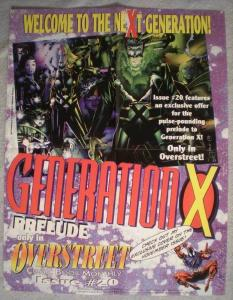 GENERATION X Promo poster, 17 x 22,  Unused, more Marvel in our store