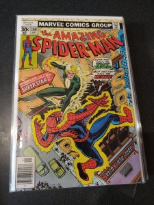 Amazing Spider-Man # 168 Marvel Comics 1977 Ross Andru art / Will O' The Wisp