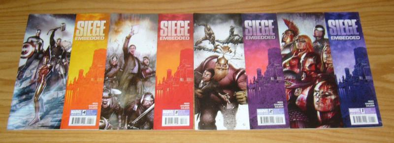 Siege: Embedded #1-4 VF/NM complete series - brian reed - avengers 2 3 set (1st)