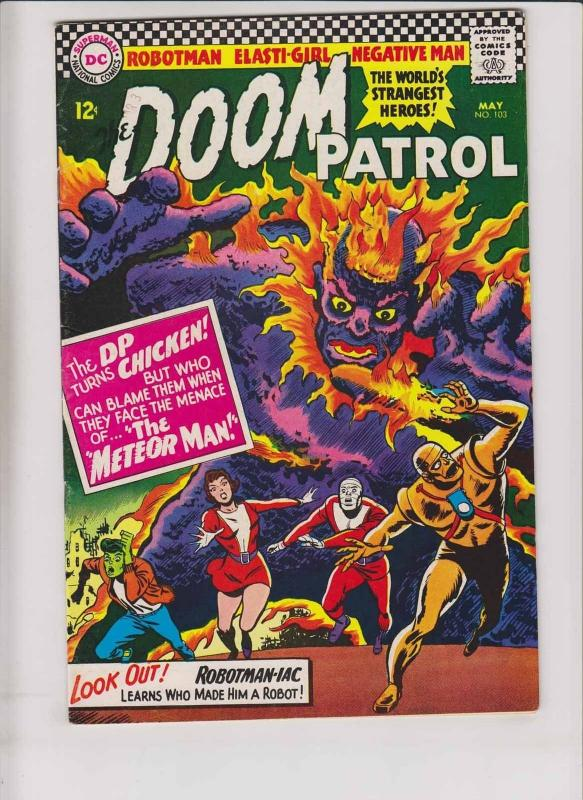 Doom Patrol #103 FN may 1966 - 5th appearance of beast boy - silver age DC comic
