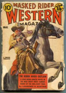 Masked Rider Western Pulp March 1938- Robin Hood Outlaw
