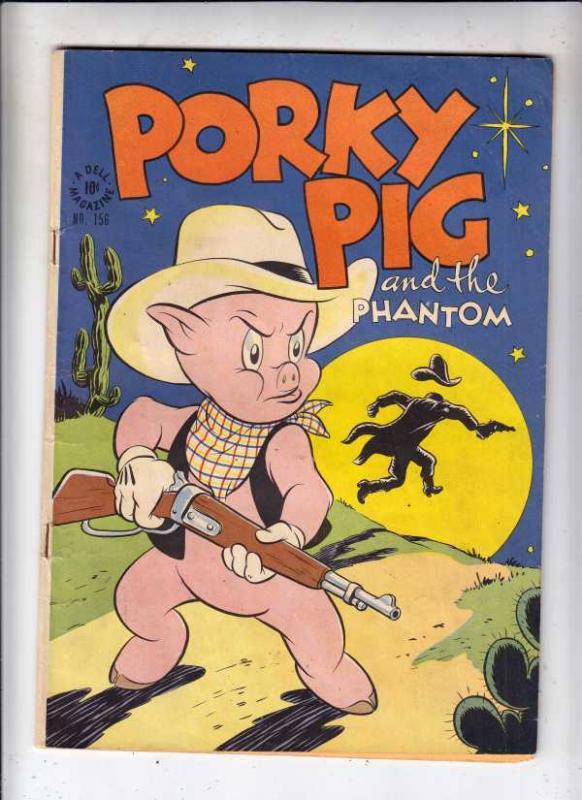 Four Color #156 (Aug-47) FN+ Mid-Grade Porky Pig, Sylvester Cat, Petunia Pig,...