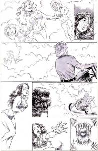 ROB DURHAM original CAVEWOMAN published art, Snow #4, Pg 3, 11x17