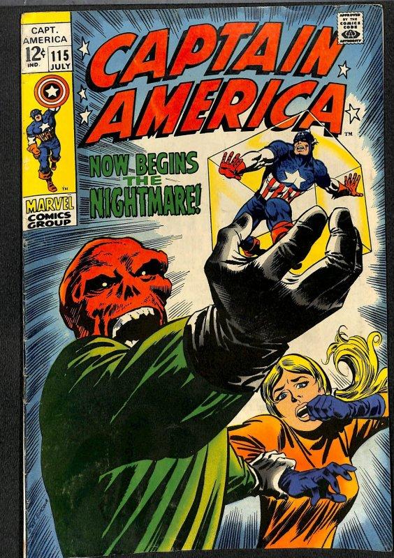 Captain America #115 VG 4.0 Red Skull!