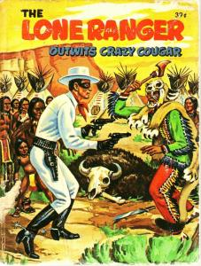 LONE RANGER OUTWITS CRAZY COUGAR-1968-WHITMAN-BLB #2013 G/VG