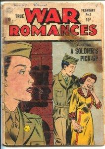 True War Romances #6 1953-military love triangle-Ogden Whitney art-P