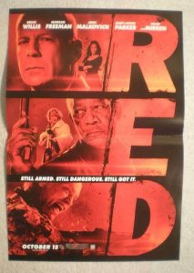 RED Promo Poster, Bruce Willis,  11x17, 2010, Unused, more in our store