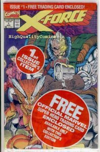X-FORCE #1, NM-, w/ trading card, Cable, ShatterStar, more in store, 1991