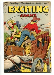 EXCITING #68-1949-NEDOR-BLACK TERROR-JUDY-MASKED RIDER-SCHOMBURG-RALPH MAYO-fn