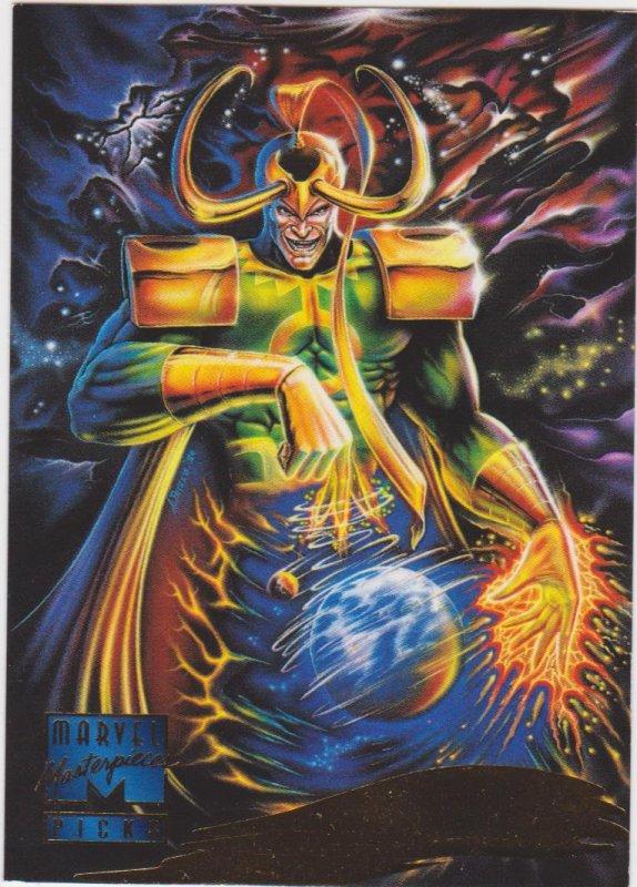 1995 Marvel Masterpieces #131, Loki