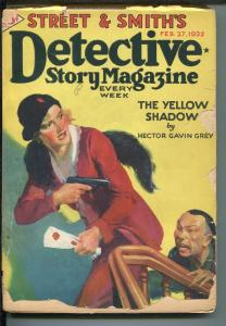 Detective Story Pulp February 27 1932- Asian Menace cover- Hector Grey G-