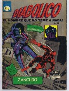 ORIGINAL Vintage 1968 Daredevil Diabolico Spanish Edition Comic Book #26