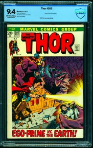 Thor #202 CBCS NM 9.4 Off White to White Marvel Comics
