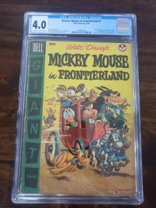 Mickey Mouse in Frontierland 1 CGC 4.0 100 page Dell Giant