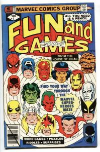 MARVEL FUN AND GAMES #1 1979-UNWORKED PUZZLES AND GAMES-1st issue