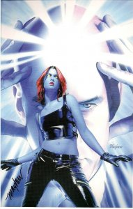Mystique #15 Comic Poster signed by Mike Mayhew 6.5 x 10