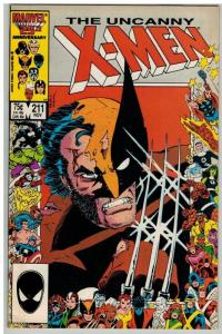 X MEN 211 F-VF Nov. 1986