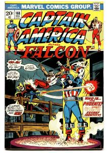 CAPTAIN AMERICA #168 comic book First Baron Zemo II 1973 MCU  VF