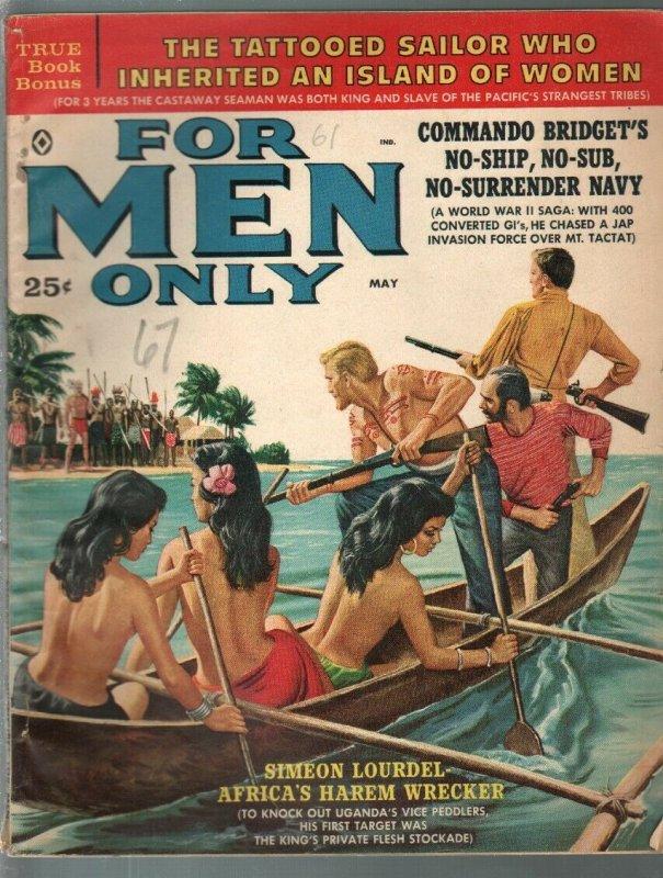 For Men Only-5/1960-Atlas-Mort Kunstler-Al Rossi-Rudi Nappi-cheesecake-VG