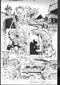 Nick Cuti-Original Comic Book Art-Secret of Crooked Hill-1990's-signed-FN/VF