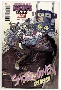 Secret Wars 2099 #2 Gwen Stacy Variant (Marvel, 2015) NM