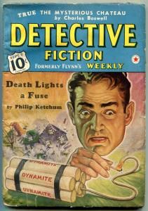 Detective Fiction Weekly Pulp September 7 1940- Philip Ketchum- Dynamite cover